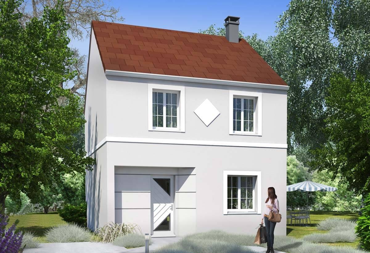 Rendu 1 de la maison individuelle Habitat Concept 107