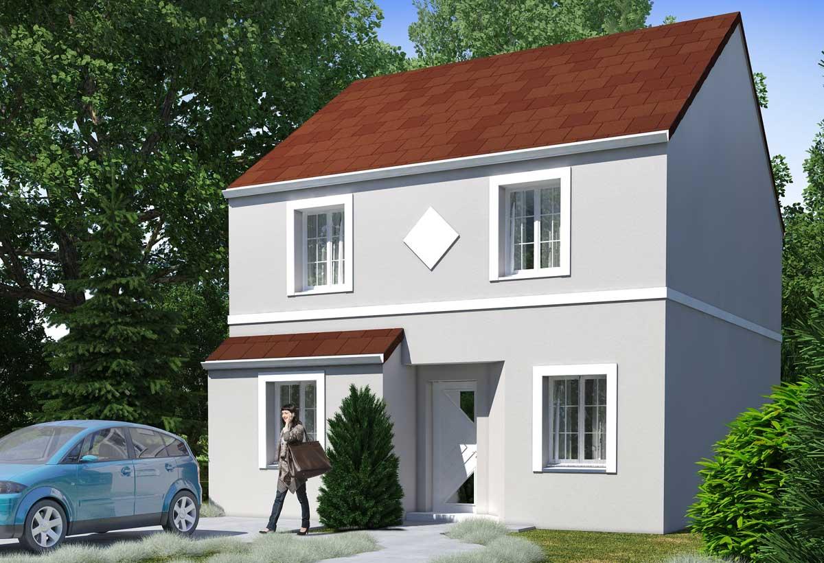 plan maison individuelle 4 chambres 108 habitat concept. Black Bedroom Furniture Sets. Home Design Ideas