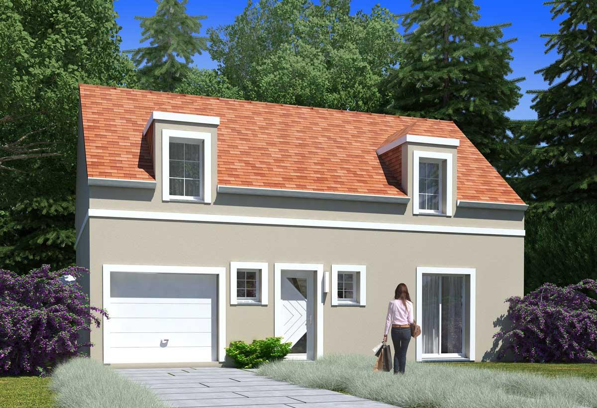Rendu 1 de la maison individuelle Habitat Concept 109