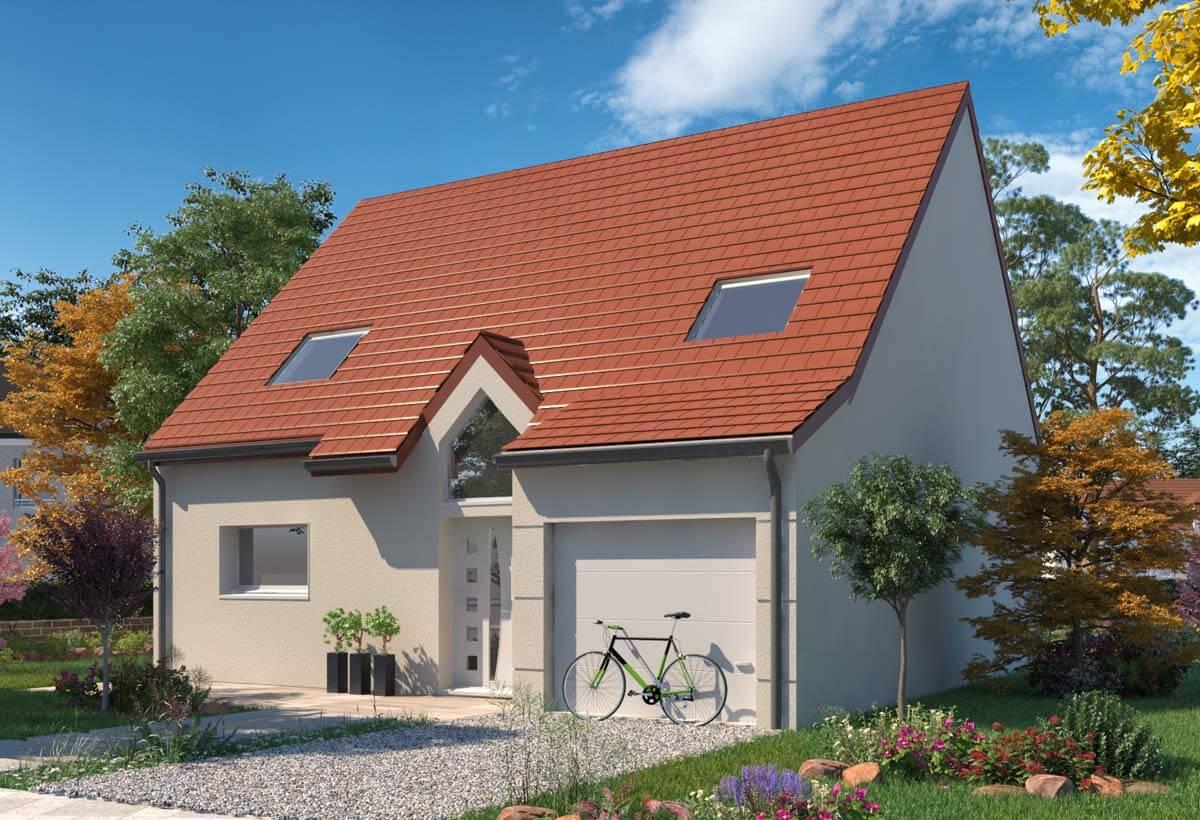 Plan maison 4 chambres Lesmaisons.com 113