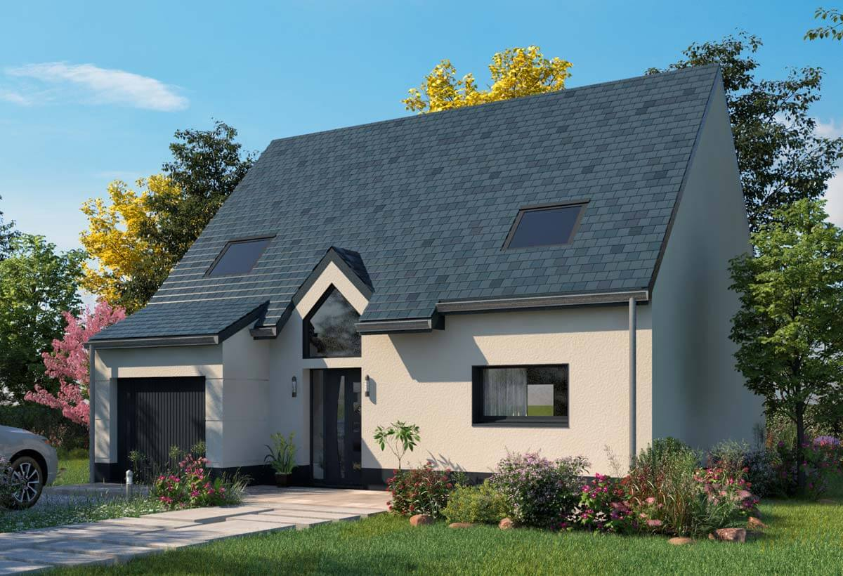 Plan maison 4 chambres Lesmaisons.com 114