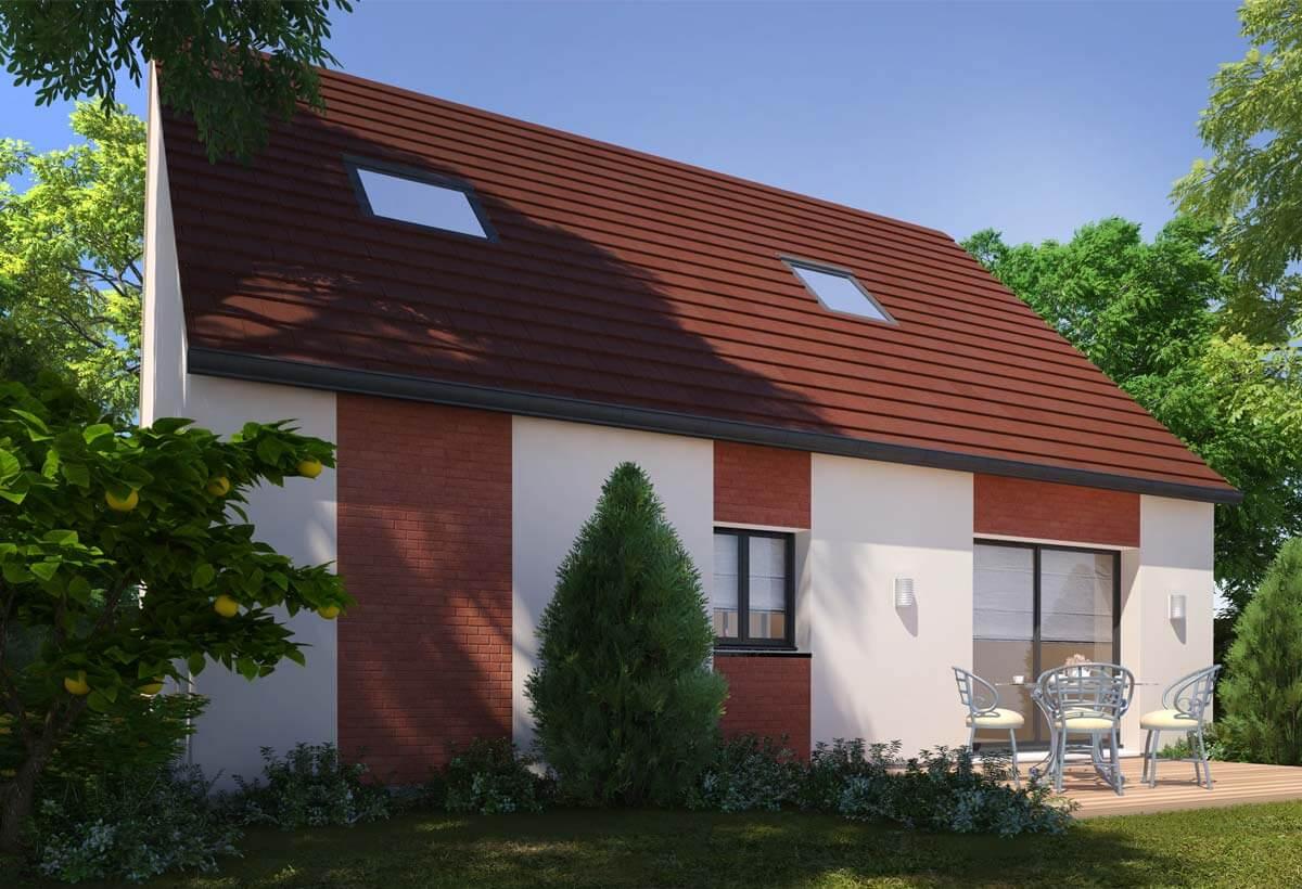 Plan maison 3 chambres Résidence Picarde 12
