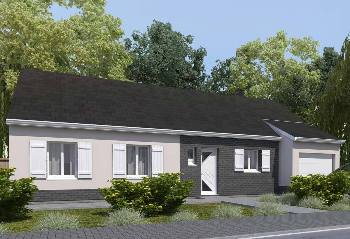 Rendu 1 de la maison individuelle Habitat Concept 14