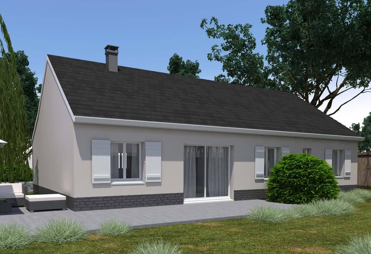 Plan maison individuelle 4 chambres 14 habitat concept for Exemple maison plain pied