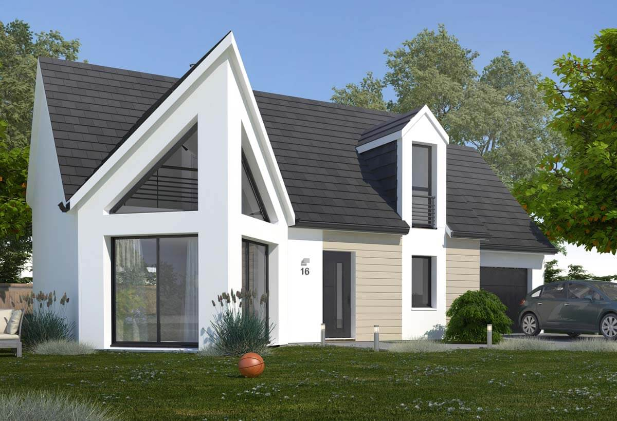 Plan maison individuelle 3 chambres 16b habitat concept for Plans maisons contemporaines