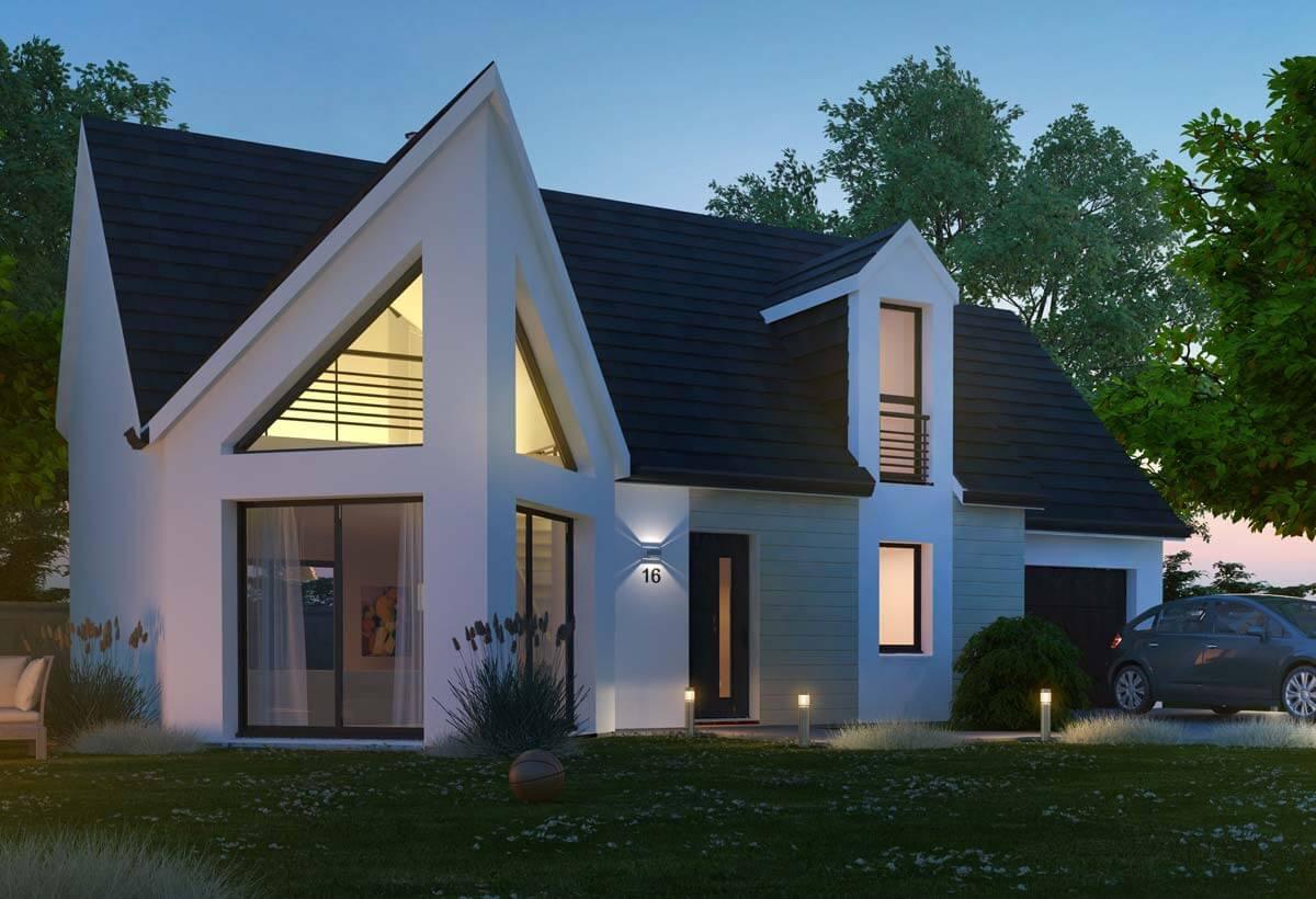 Rendu 2 de la maison individuelle Habitat Concept 16b
