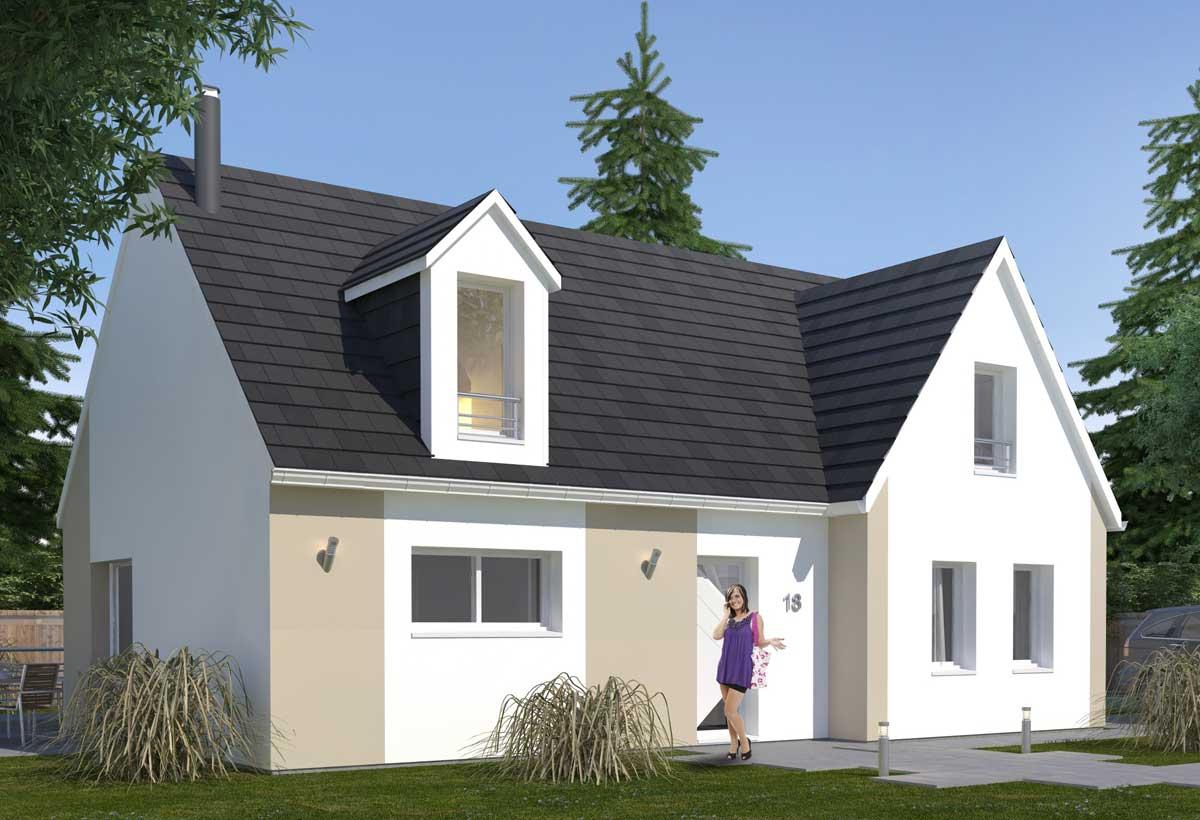 plan maison individuelle 3 chambres 18 habitat concept. Black Bedroom Furniture Sets. Home Design Ideas