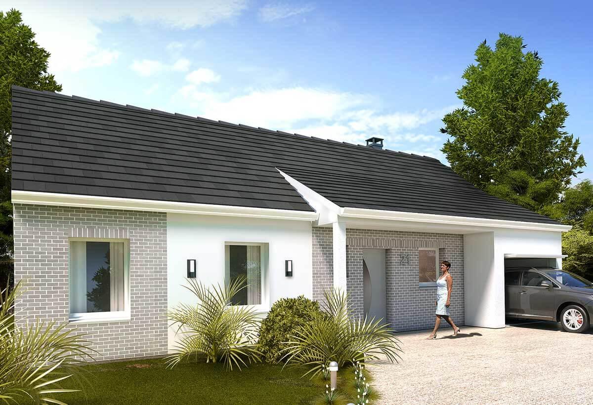 Plan maison 3 chambres HC 21