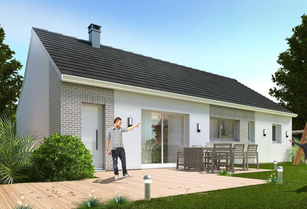 Rendu 2 de la maison individuelle Habitat Concept 21