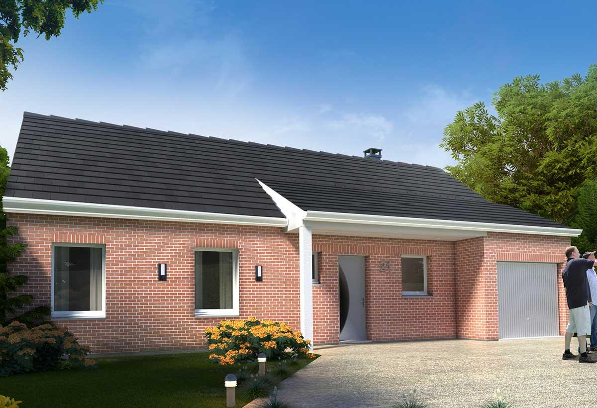 Rendu 4 de la maison individuelle Habitat Concept 21