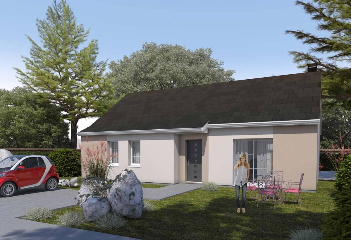 plan maison individuelle 3 chambres 22 habitat concept. Black Bedroom Furniture Sets. Home Design Ideas