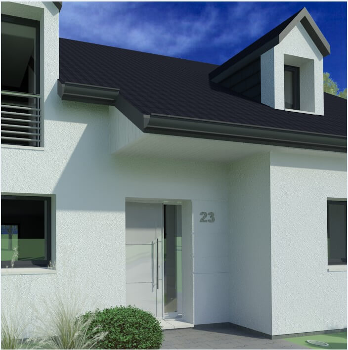 Plan maison 3 chambres HC 23