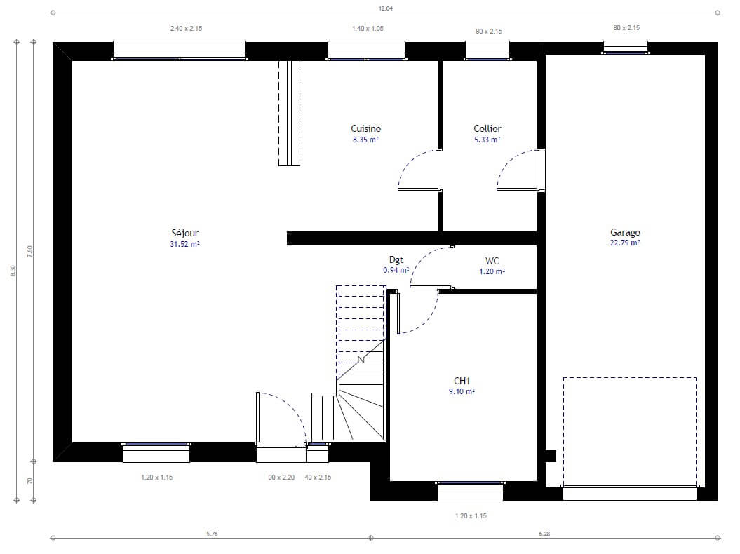 Maison individuelle 23 for Plans de maisons individuelles