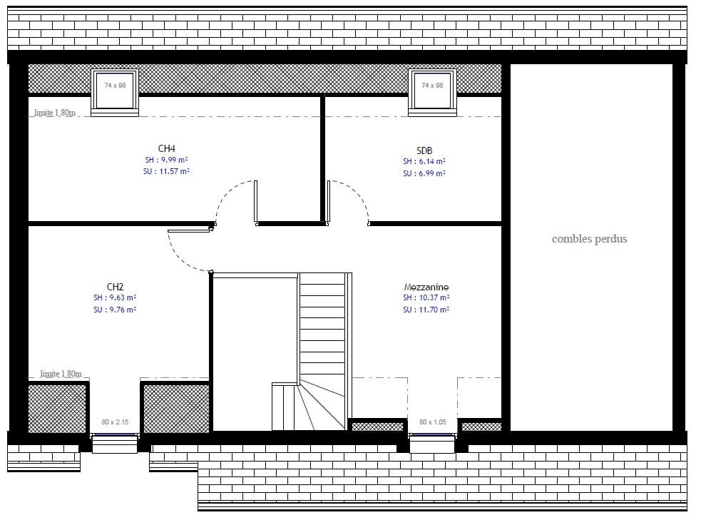 Plan maison individuelle 3 chambres 23 habitat concept for Sites web de plan de maison