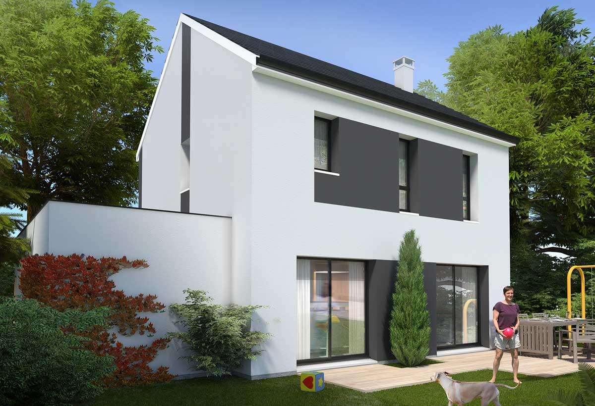 Rendu 2 de la maison individuelle Habitat Concept 27