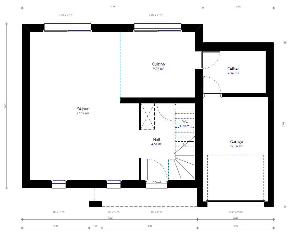 Plan de maison 3 chambres mod le r sidence picarde 27 for Sites web de plan de maison