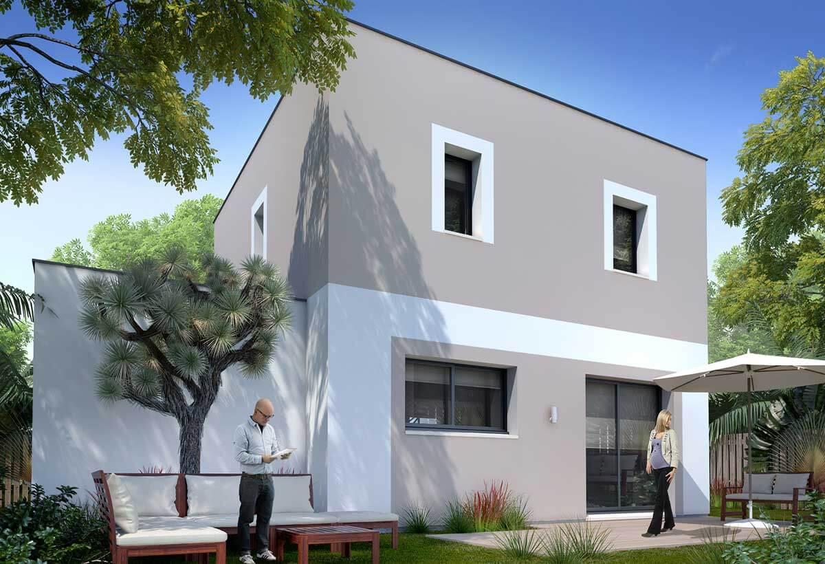 Rendu 2 de la maison individuelle Habitat Concept 27b