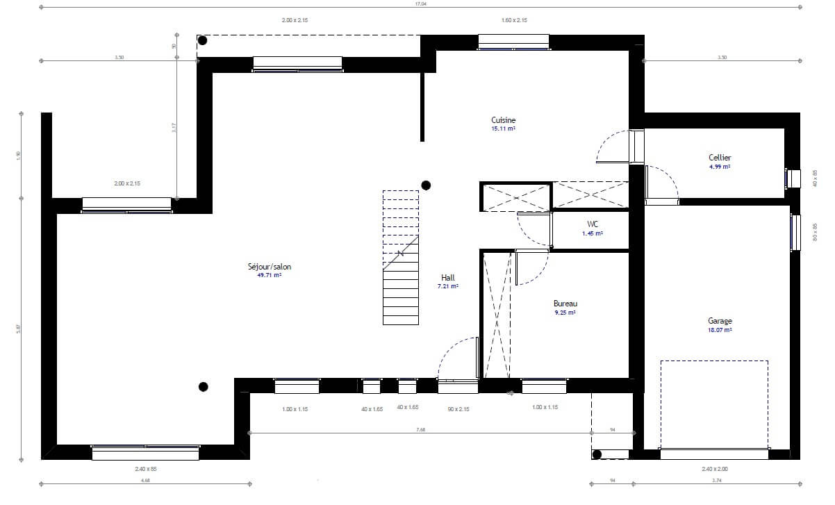 Plan maison cube a etage beautiful interesting plan de la for Plan maison cube etage