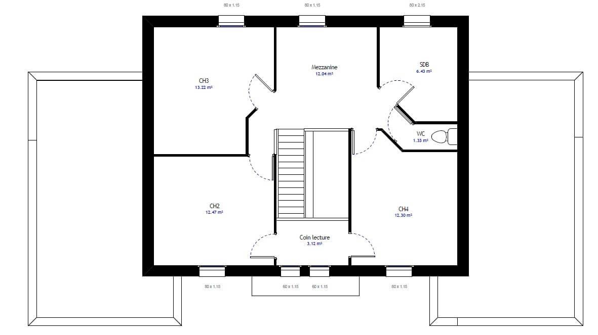 Plan 2de la maison individuelle Habitat Concept 31