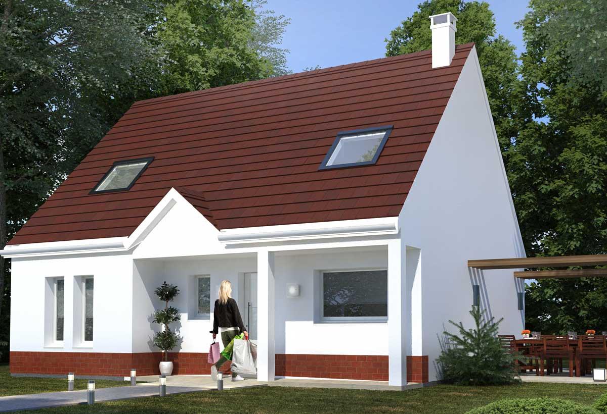 Plan de maison 4 chambres mod le r sidence picarde 32 r sidences picardes for Plan de maison de 90m2