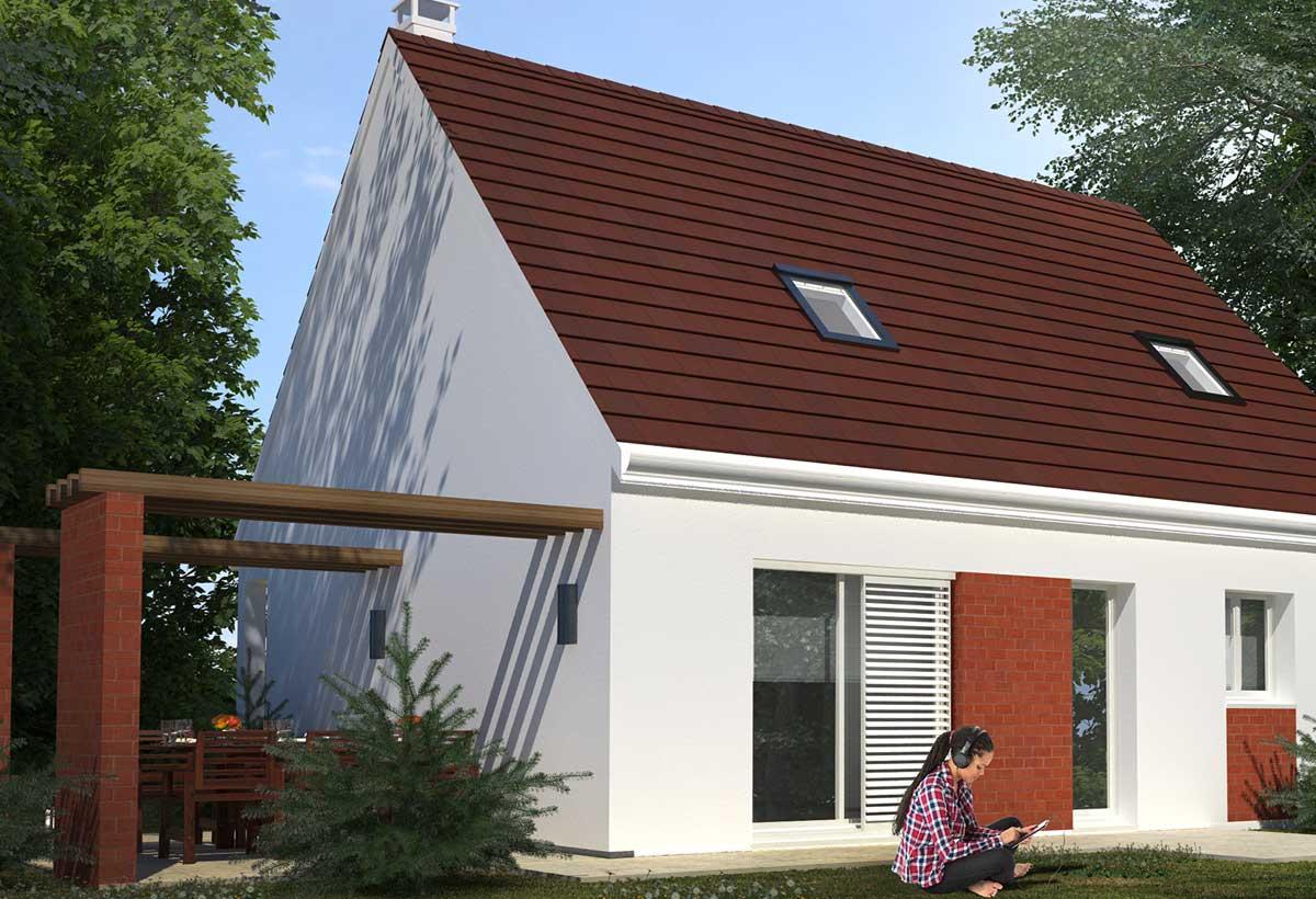 Plan maison individuelle 4 chambres 32 habitat concept for Modele maison habitat concept