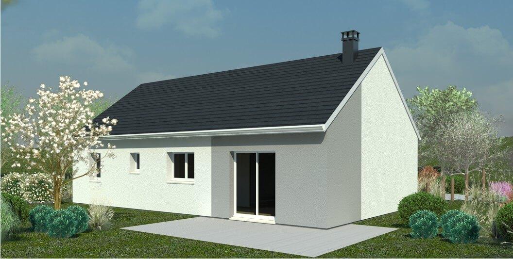 plan maison individuelle 3 chambres 37 habitat concept. Black Bedroom Furniture Sets. Home Design Ideas