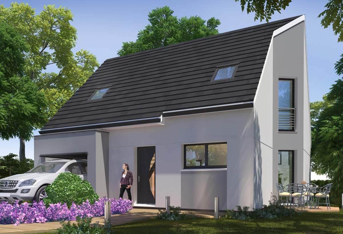 Rendu 1 de la maison individuelle Habitat Concept 38b