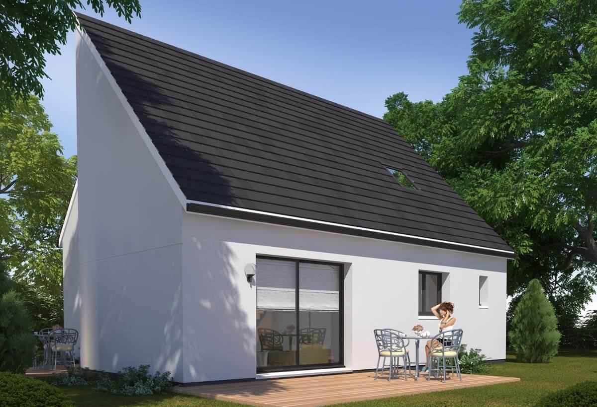 Rendu 2 de la maison individuelle Habitat Concept 38b