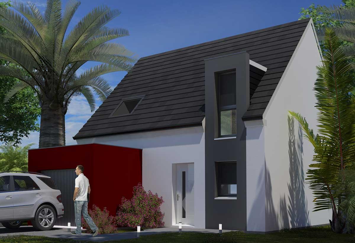 Plan maison 3 chambres Résidence Picarde 40