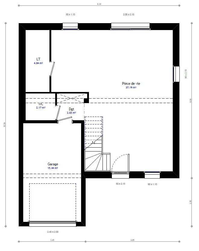 Plan maison individuelle 3 chambres 40 habitat concept for Sites web de plan de maison