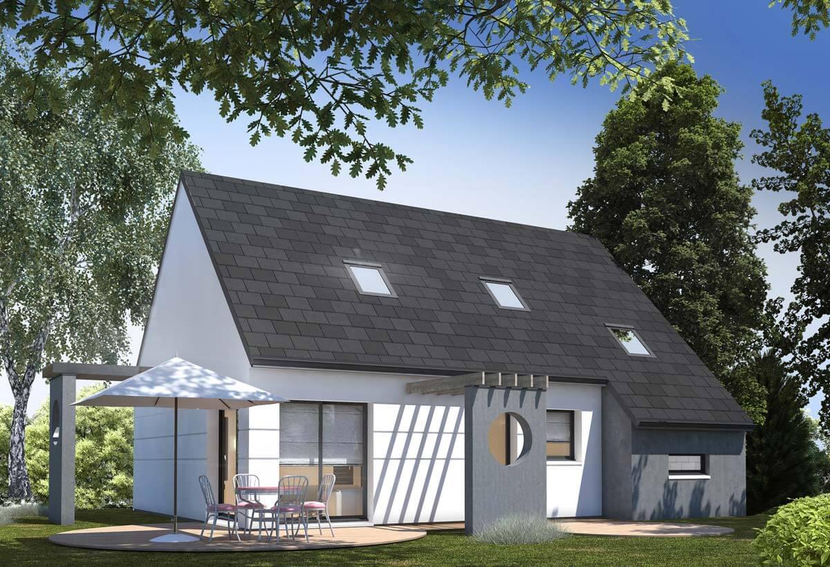 Plan maison individuelle 3 chambres 43 habitat concept for Modele de maison a etage