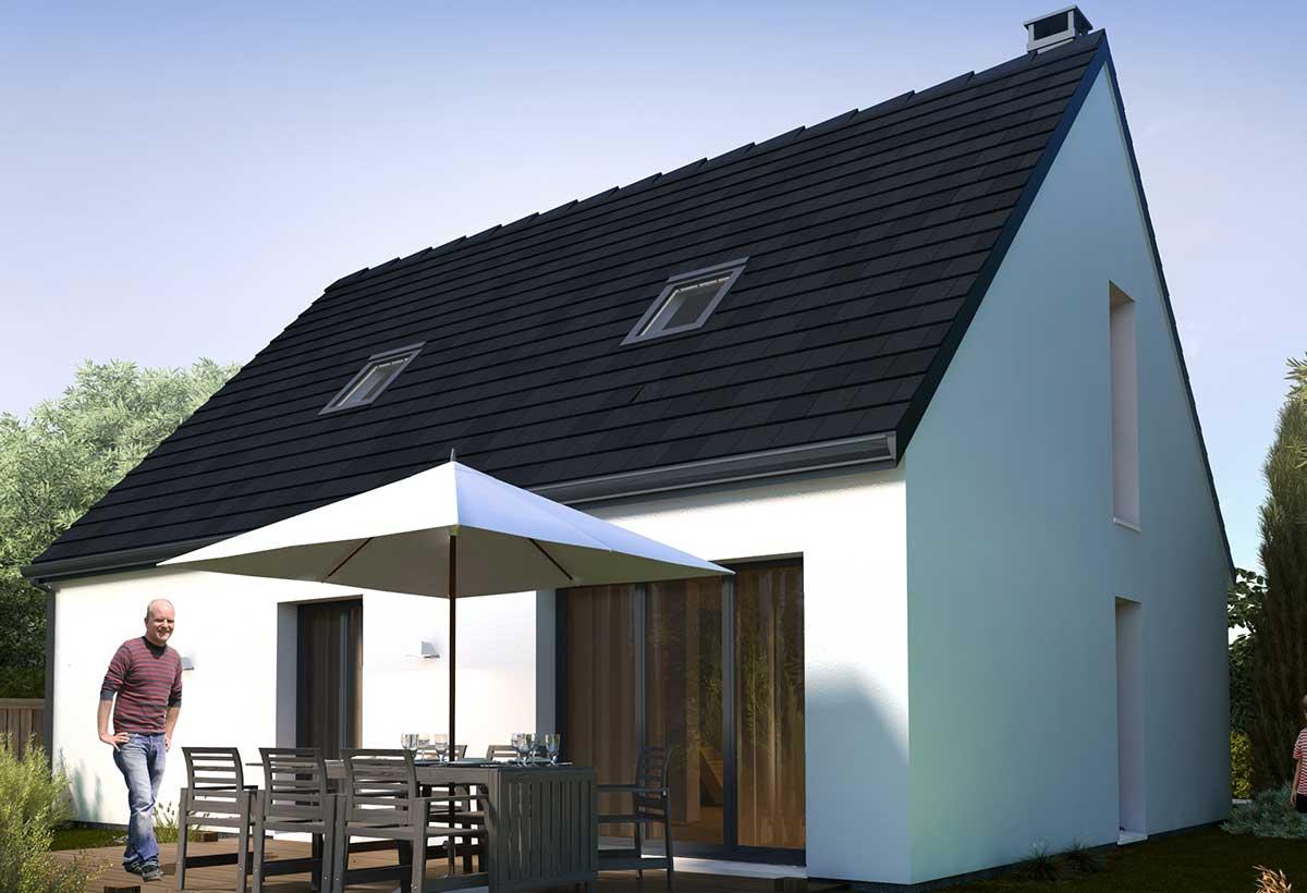 Rendu 2 de la maison individuelle Habitat Concept 46