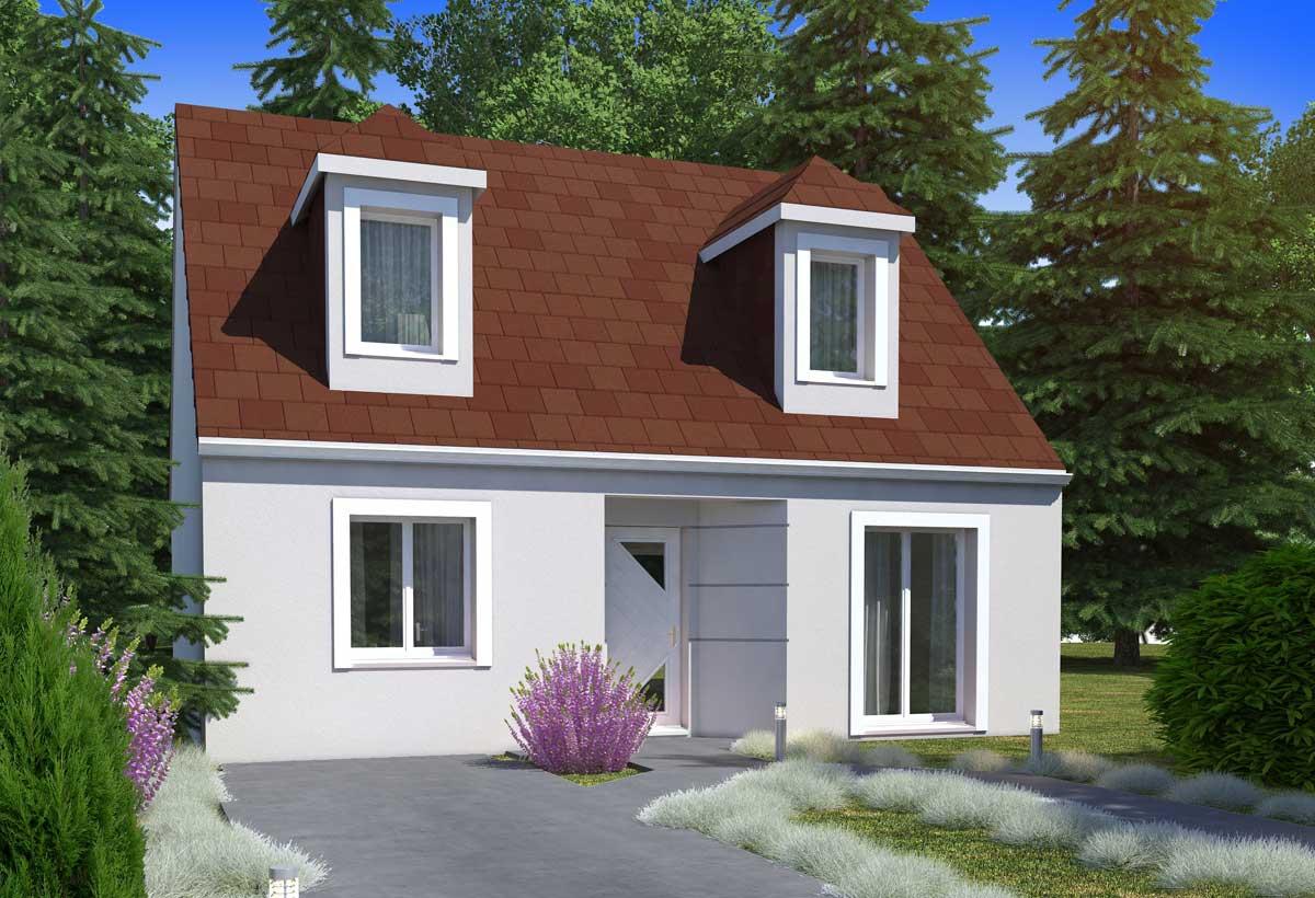 Maison individuelle 46b for Modele de maison a etage