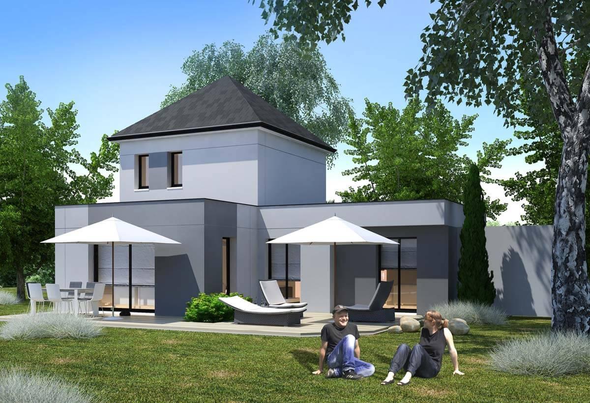 plan maison individuelle 3 chambres 47 habitat concept. Black Bedroom Furniture Sets. Home Design Ideas