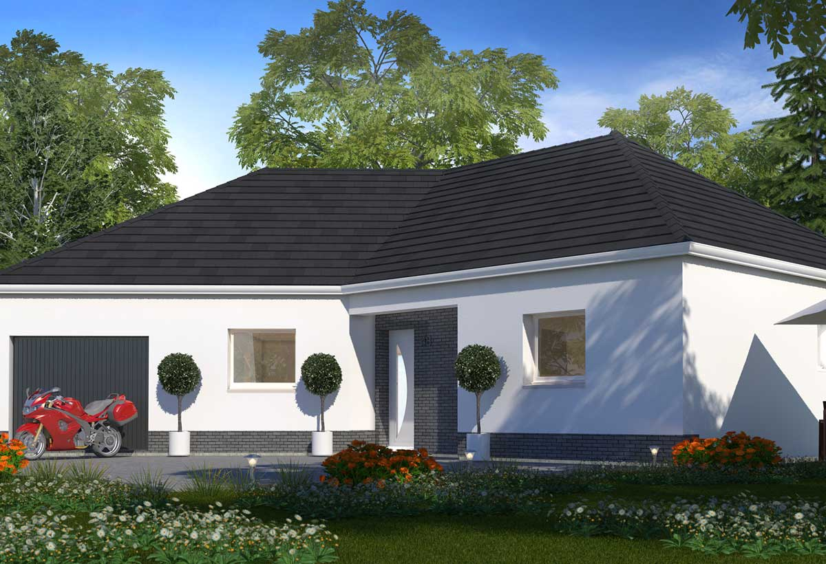 Construction maison plain pied avec habitat concept for Modele de maison contemporaine de plain pied