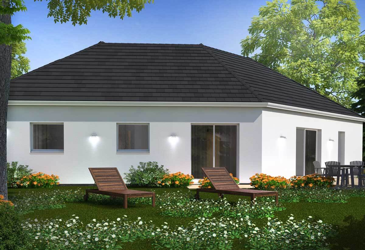 Construction maison plain pied avec habitat concept for Modele maison contemporaine plain pied