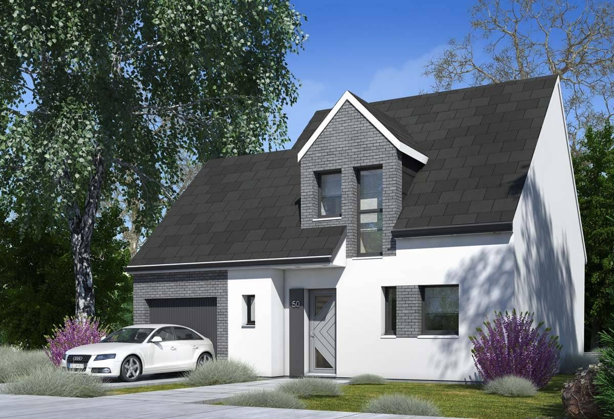 Rendu 1 de la maison individuelle Habitat Concept 50