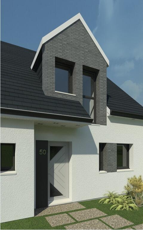 Rendu 2 de la maison individuelle Habitat Concept 50