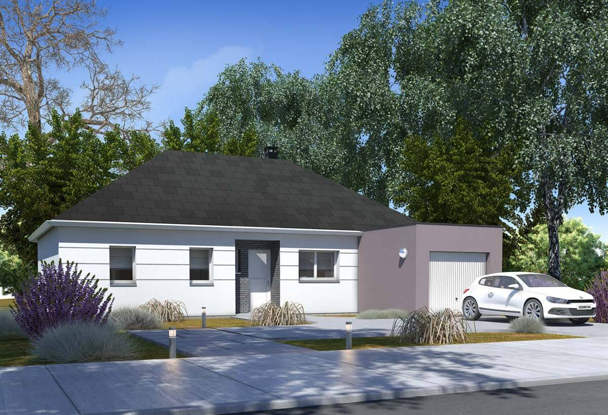 Rendu 1 de la maison individuelle Habitat Concept 51