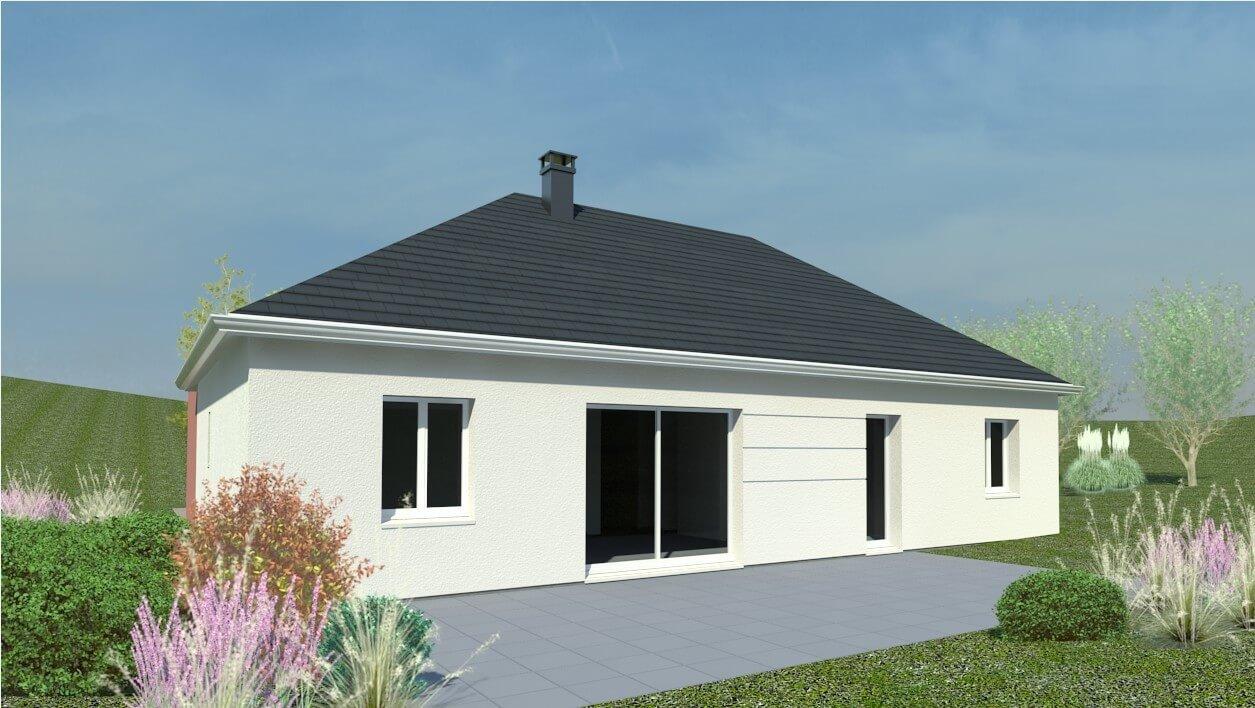 Plan maison 3 chambres Résidence Picarde 51