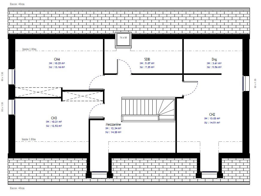 Plan maison individuelle 4 chambres 53 habitat concept for Sites web de plan de maison