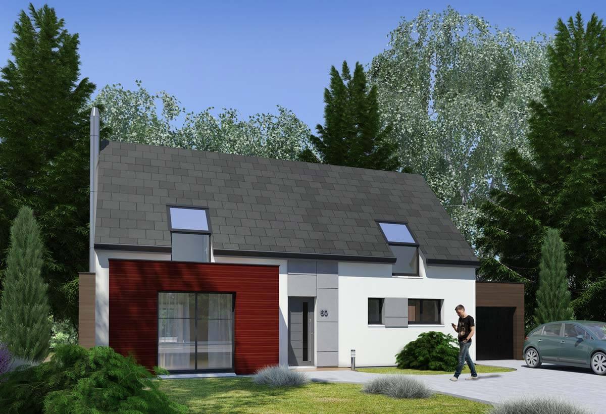 Rendu 1 de la maison individuelle Habitat Concept 60