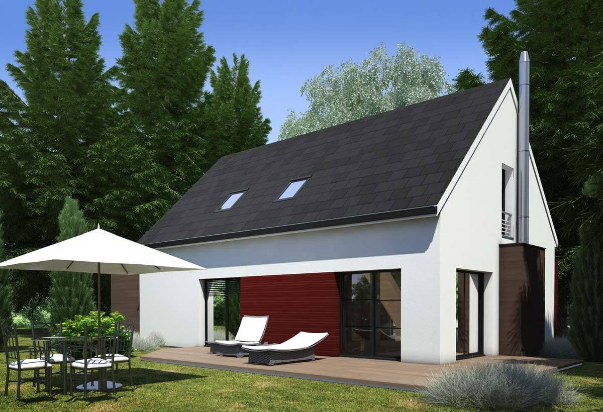 Plan maison individuelle 4 chambres 60 habitat concept for Maison individuelle