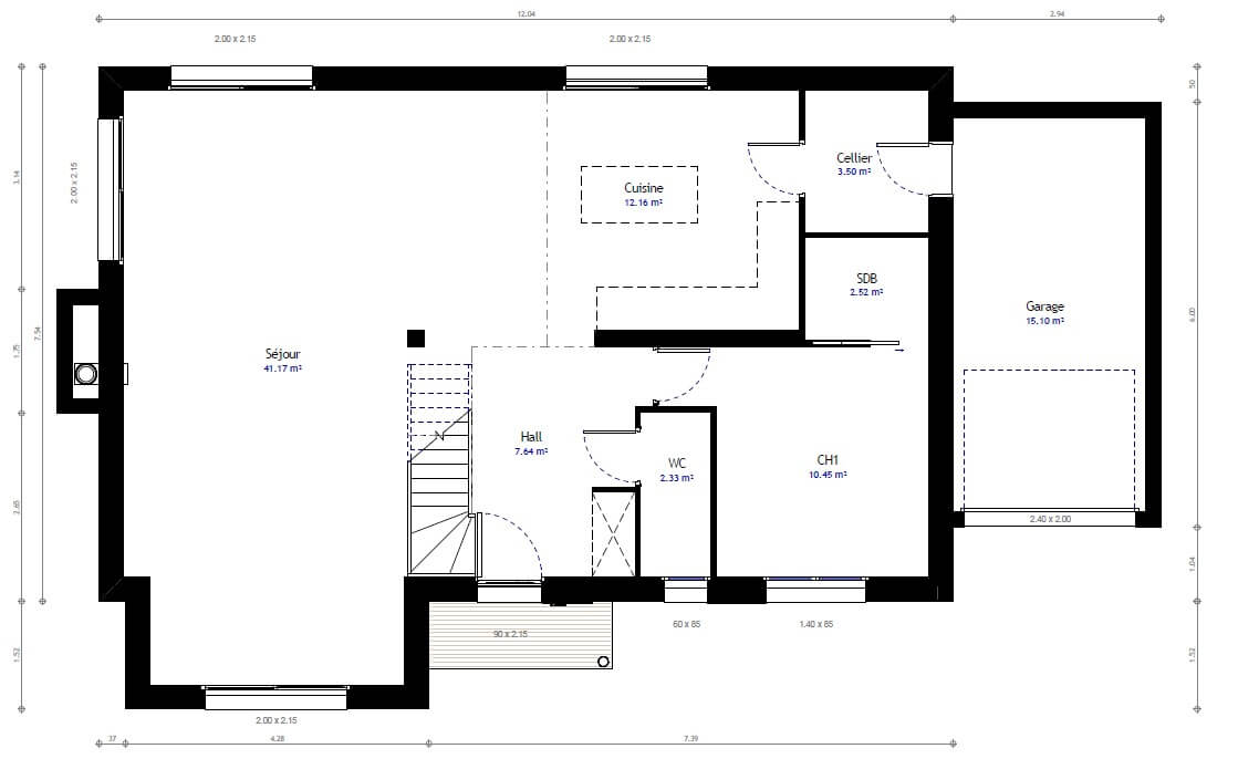 Plan maison individuelle 4 chambres 60 habitat concept for Sites web de plan de maison
