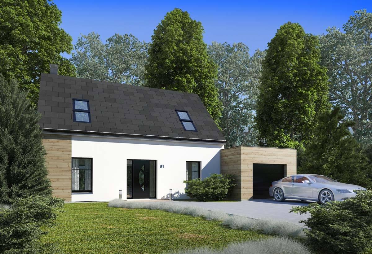 Rendu 1 de la maison individuelle Habitat Concept 61