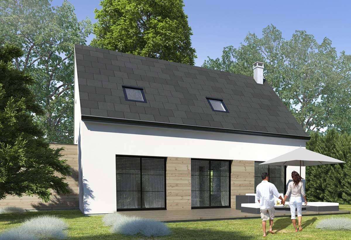 Plan maison 3 chambres HC 61