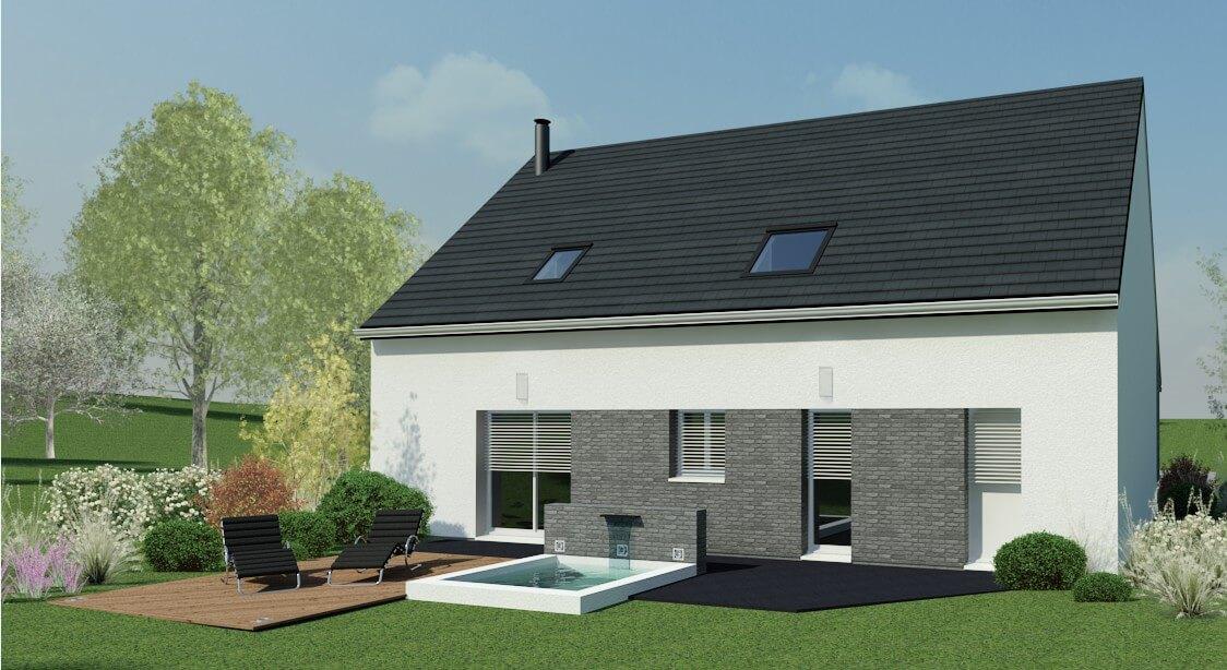 plan maison individuelle 4 chambres 66 habitat concept. Black Bedroom Furniture Sets. Home Design Ideas