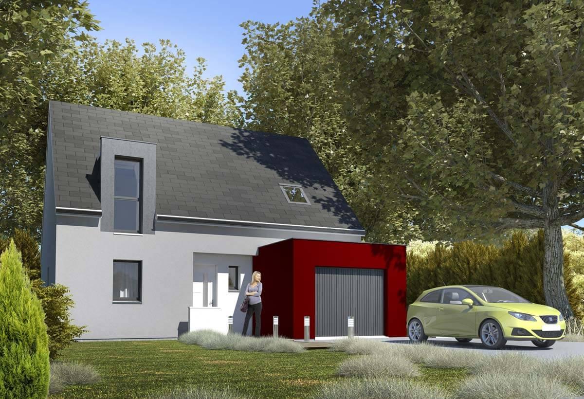 Rendu 1 de la maison individuelle Habitat Concept 70