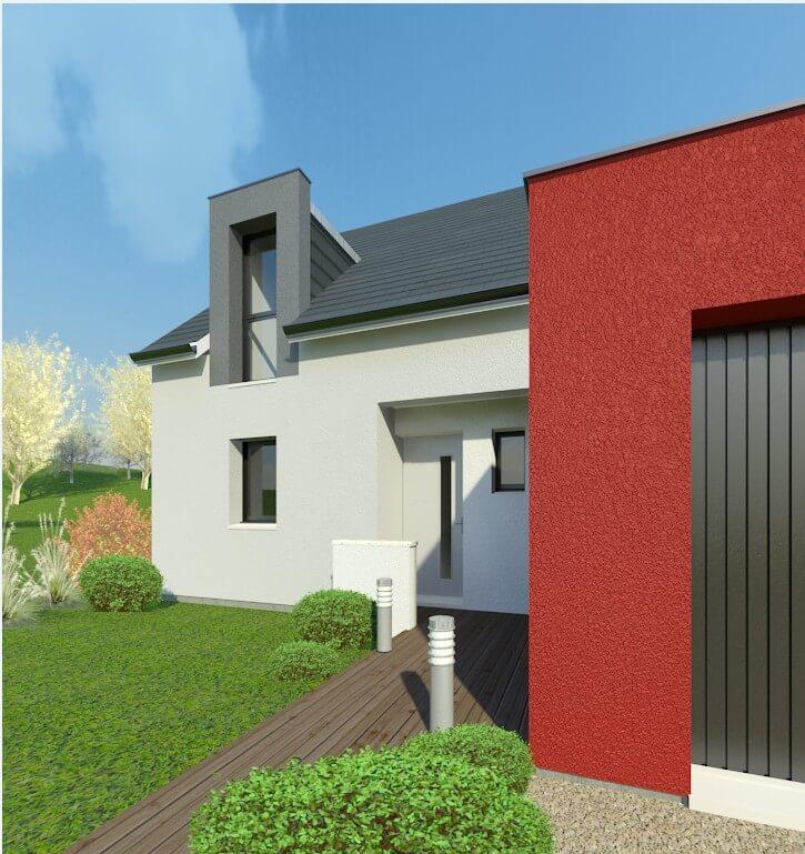 Rendu 2 de la maison individuelle Habitat Concept 70