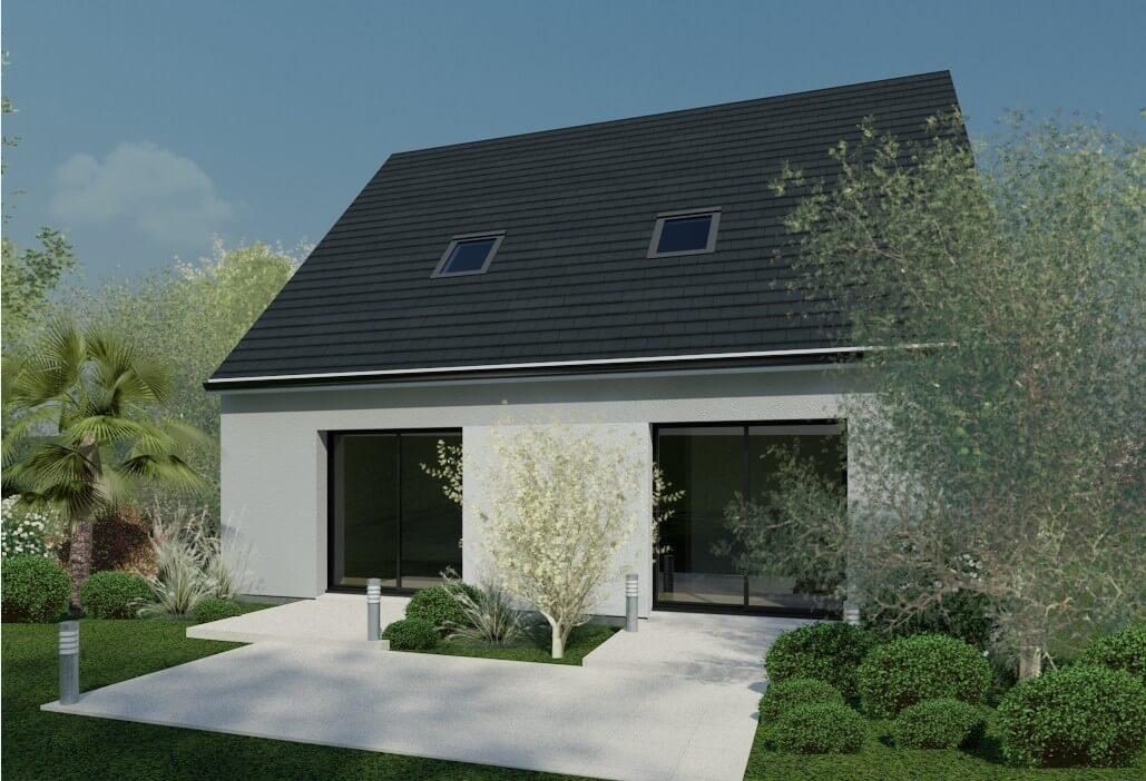 Plan maison individuelle 4 chambres 70 habitat concept for Modele maison habitat concept